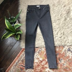 Zara Grey High Rise Skinny Jeans